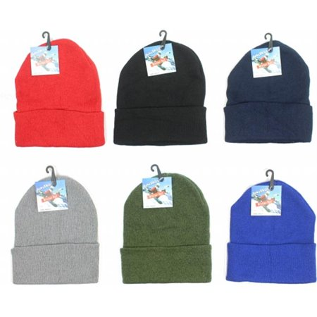 Premium Adult Cuffed Knit Hats  44  Case Of 60