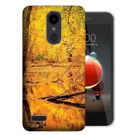 MUNDAZE LG Stylo 4 / Stylo 4 Plus UV Printed Design Case - Golden Autumn  Leaves Design Skin Phone Case Cover