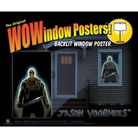 Jason Voorhees Wowindow Poster Halloween Decoration - Halloween Decorations For Office