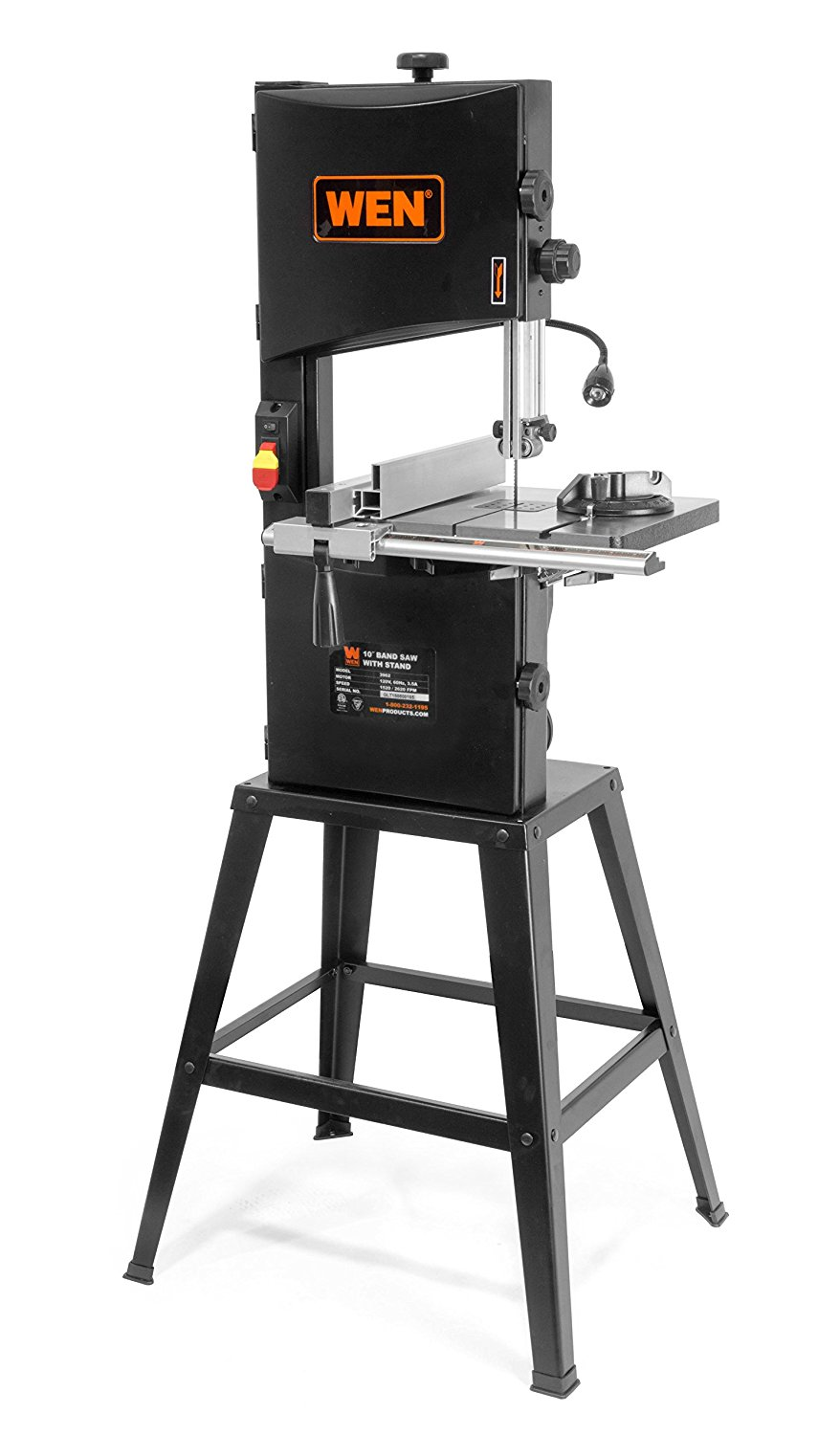 "WEN 3962 Two-Speed Band Saw with Stand and Worklight, 10"" by"
