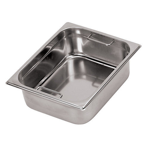 Paderno World Cuisine Hotel Pan with Internal Handles - 1/4 in Silver