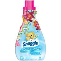 Snuggle Exhilarations Liquid Fabric Softener, Island Hibiscus & Rainflower, 50 Ounce, 58 Loads