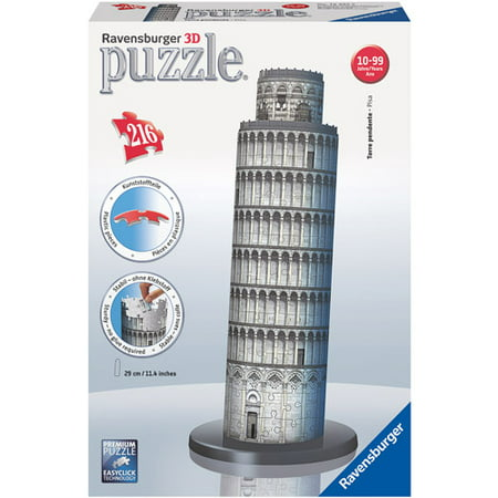 Ravensburger -#D Building - Leaning Tower of Pisa Italy - 216 Piece Jigsaw Puzzle