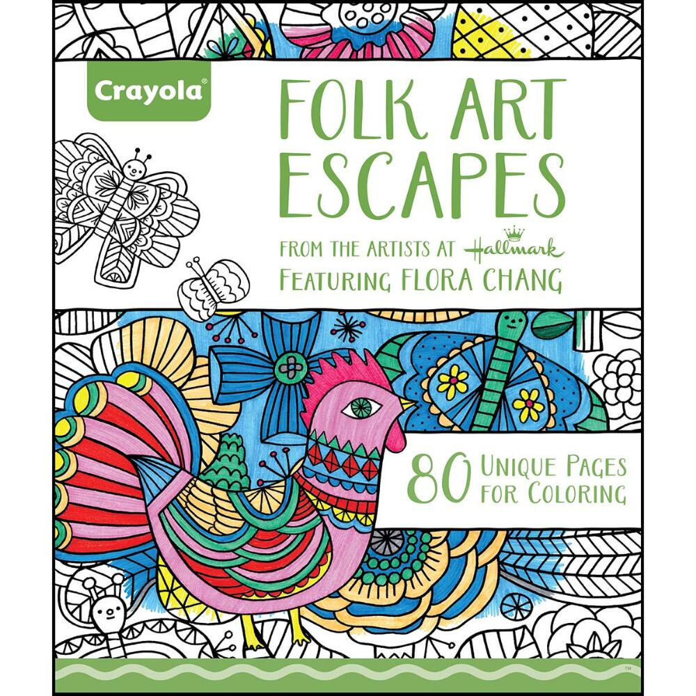 Folk Art Escapes Coloring Book