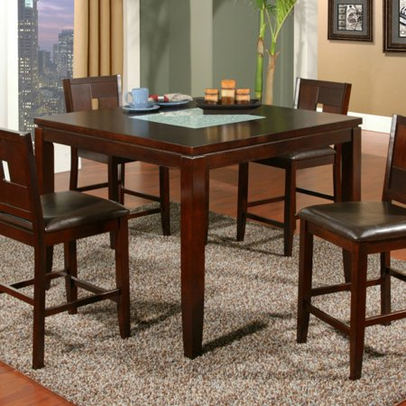 Alpine Furniture Lakeport Counter Height Pub Chairs - Espresso - Set of 2