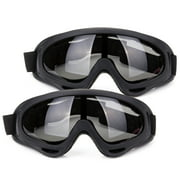 C.F.GOGGLE 2 Pairs Snow Goggles Outdoor Sports Ski Glasses Windproof Snowboard, Snowmobile, Bicycle, and Motorcycle UV Protective Glasses with Adjustable Straps