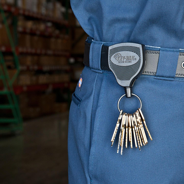 "Locking Retractable Keychain 28/"" Retractable Cord Bl... KEY-BAK SUPER48 XD 20oz"