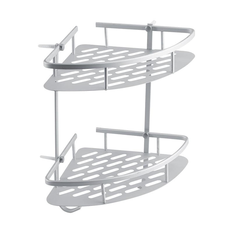 Click here to buy 2 Tiers Shower Caddy Shelf Storage Basket,Corner Rack Storage Bath Organizer for Shampoo,... by HURRISE SPORT.