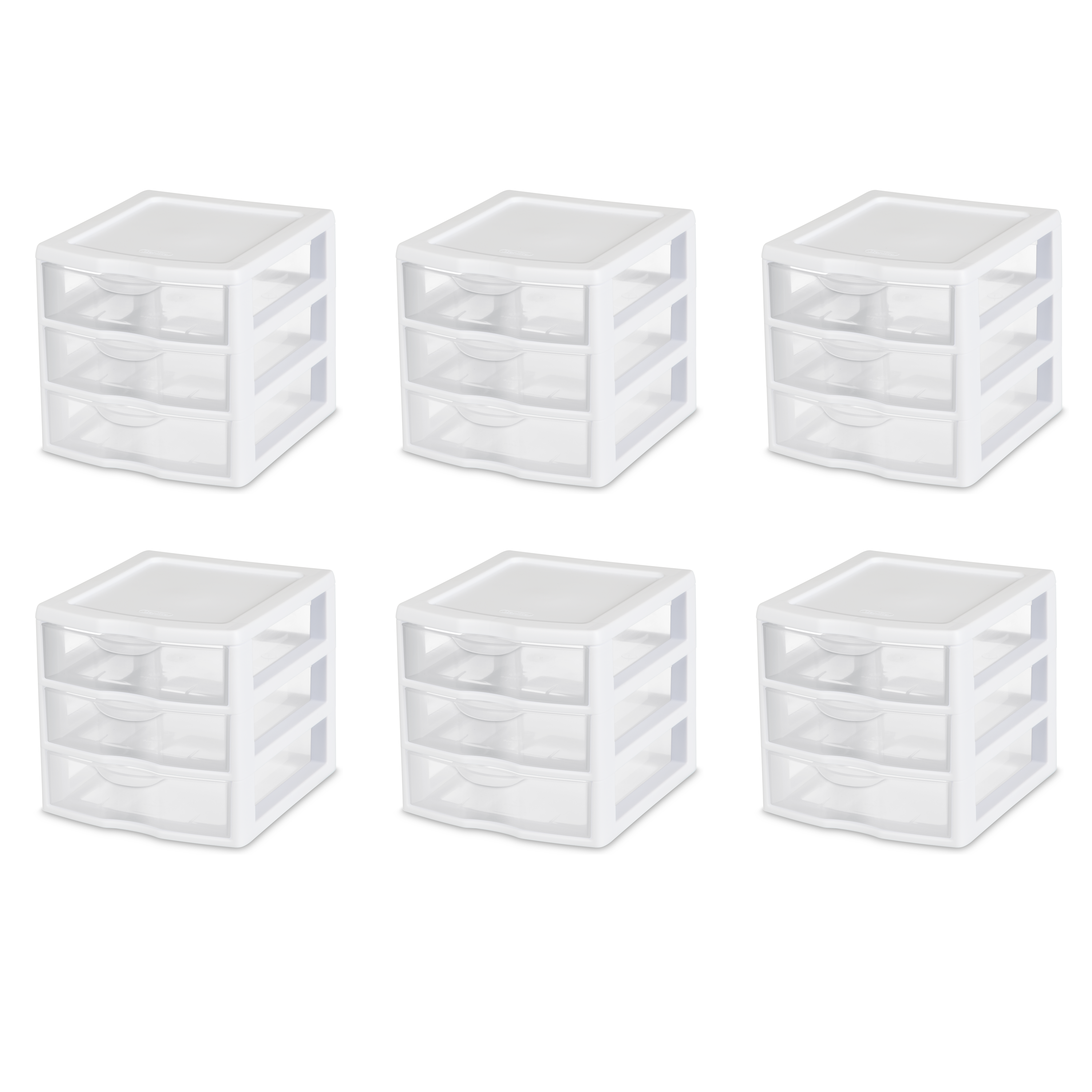 Sterilite Small 3 Drawer Unit, White (Available in Case of 6 or Single Unit)