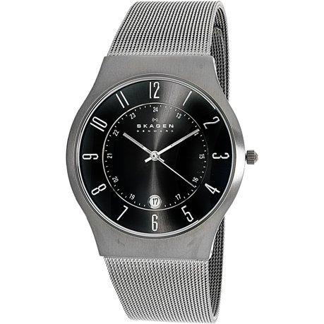 men p fossil leather nate watch mens titanium crystal quartz watches ebay s mineral black