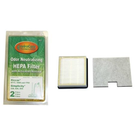 Odor Neutralizing Riccar 1700, 1800 HEPA And Charcoal Filter Set Also Will Fit Simplicity Models S36, S36L, S38, S38L