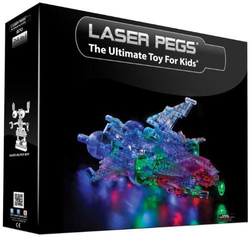 Laser Pegs 24-in-1 Spaceship Building Set by