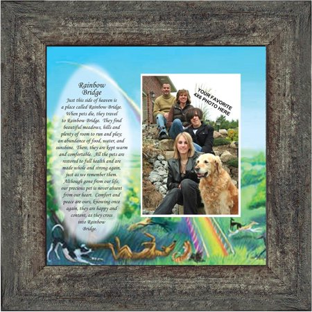 Rainbow Bridge, Sympathy for Pets who have Passed Away, Personalized Picture Frame, 10x10 6766 Photo Frame Pen