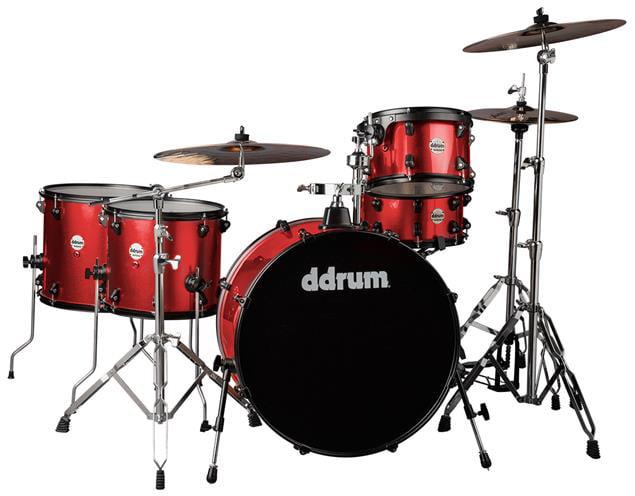 ddrum Journeyman Gen. 2 Rambler 5-Piece Drumset w  Hardware Red Sparkle by Armadillo