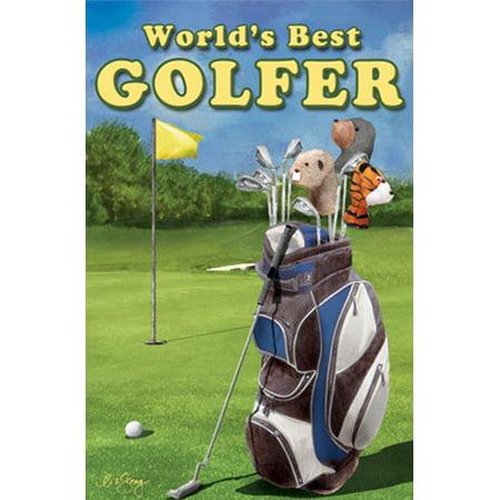 World's Best Golfer Summer House Flag Golfer Balls Tees Clubs Green 28