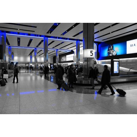 LAMINATED POSTER Heathrow Baggage Hall Terminal Airport Terminal 2 Poster Print 24 x (Heathrow Terminal Finder)