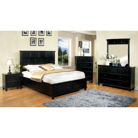 Furniture of America Transitional 4-piece Black Cottage ...