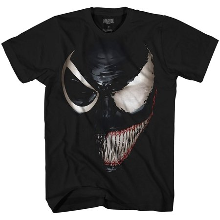 Marvel Venom Spider-Man Spiderman Avengers Villain Comic Book Adult Mens Graphic T-Shirt Apparel