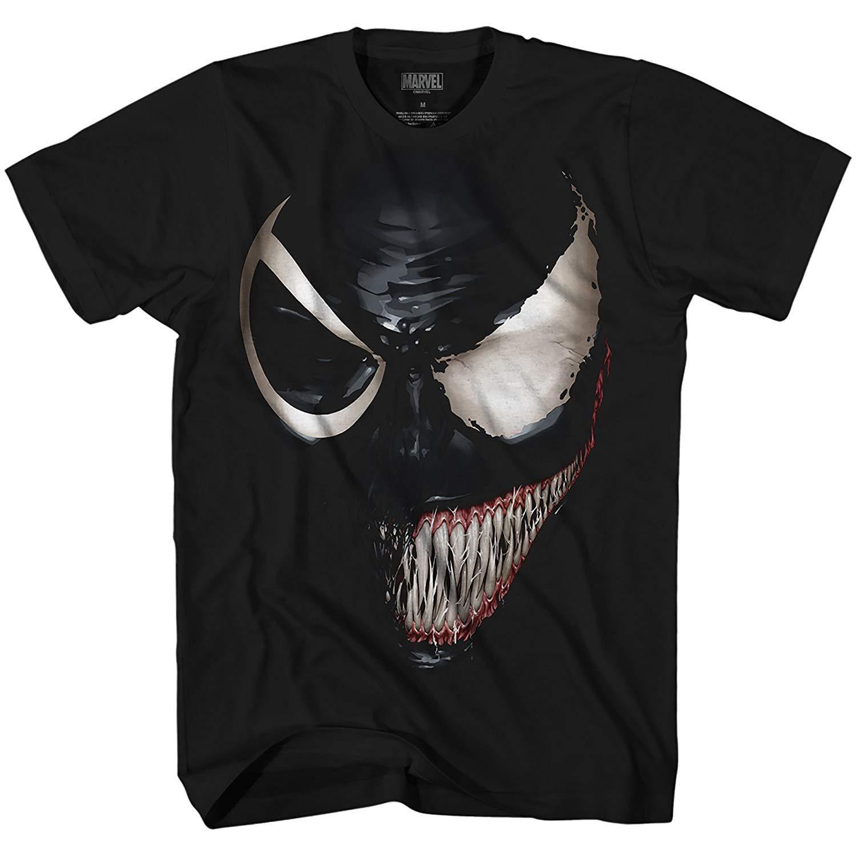 Marvel Venom Spider-Man Spiderman Avengers Villain Comic Book Adult Mens Graphic T-Shirt Apparel