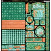 "Voyage Beneath The Sea Cardstock Stickers, 12"" x 12"""