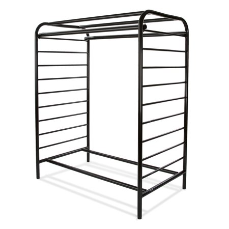 Double Sided Ladder - 58 in. H Black Double Hangrail
