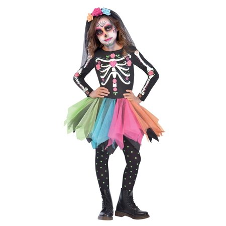 Halloween Town Girl Dead (Sugar Skull Girls Child Day Of The Dead Halloween)