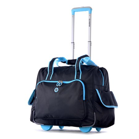 Olympia USA Deluxe Fashion Rolling Overnighter (Overnight Laptop Case)