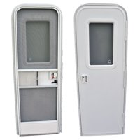 "AP Products 015-205998 RV Radius Entrance Door - 30"" x 72"", Polar White"