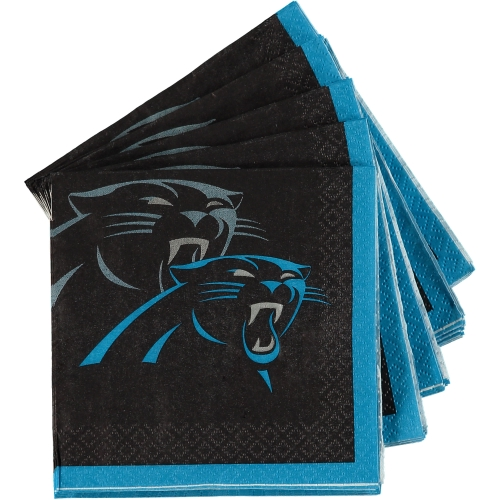 Carolina Panthers 16-Pack Beverage Napkins - No Size