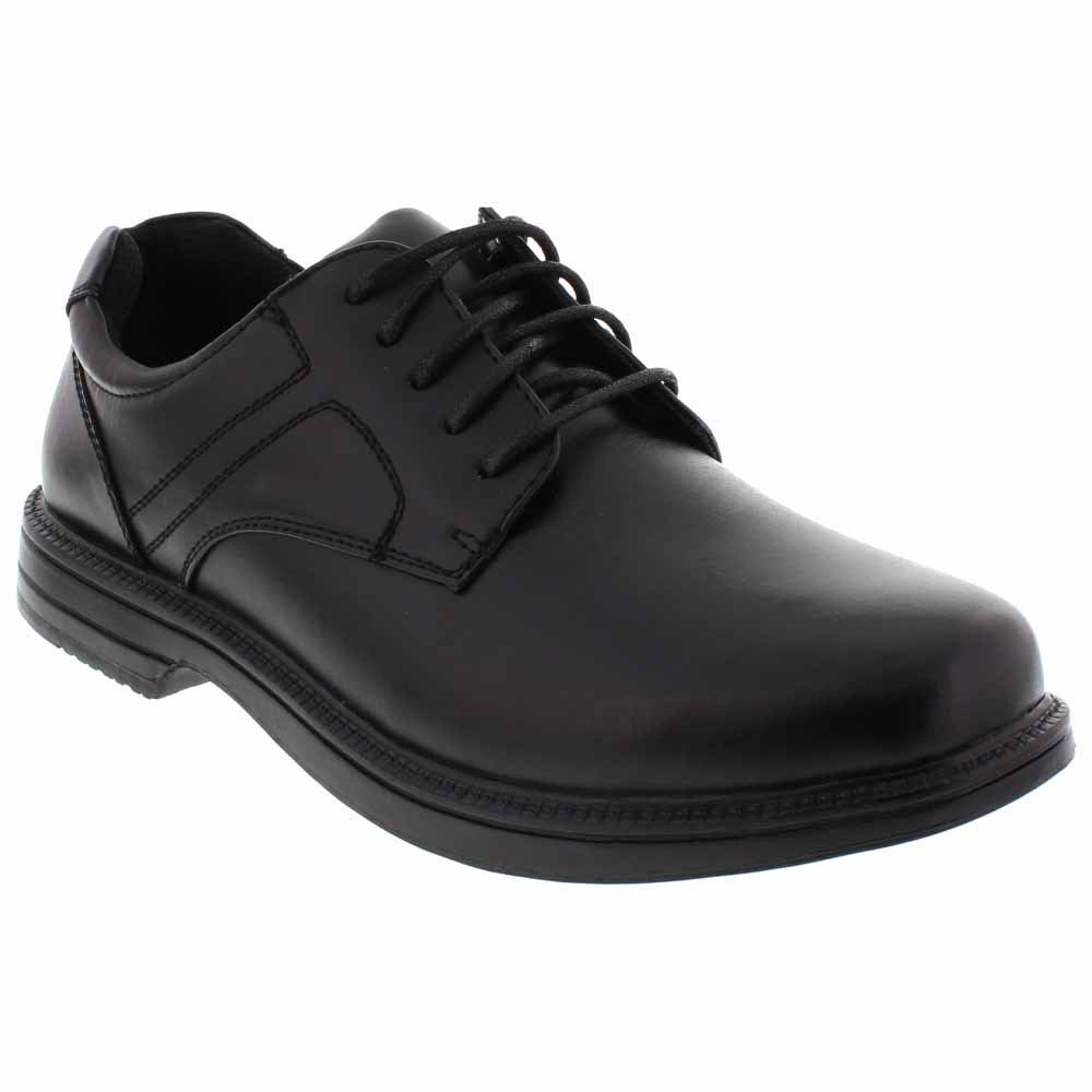 Deer Stags Nu Times Mens Black Leather Casual Dress Lace Up Oxfords Shoes by Deer Stags