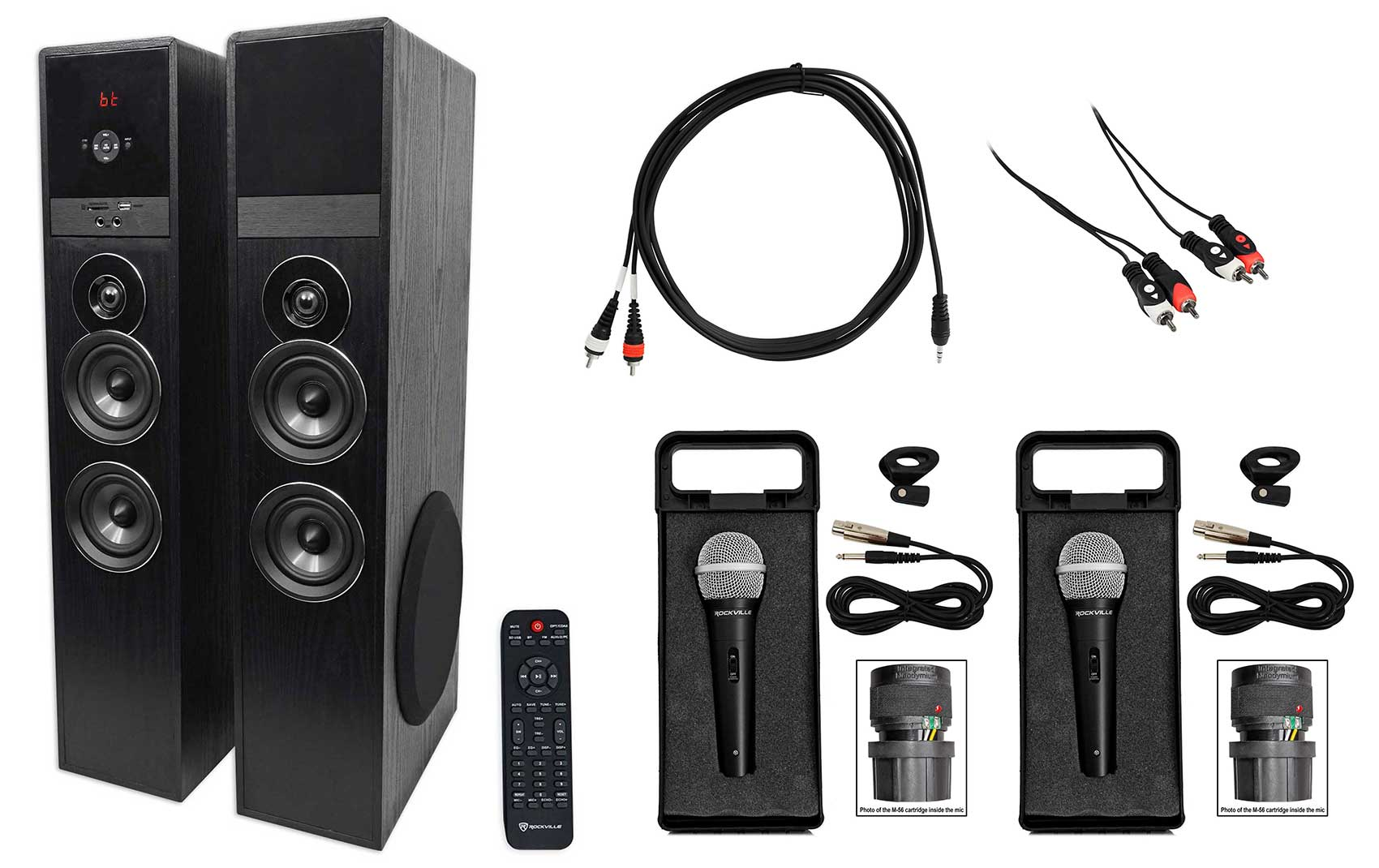 Rockville All-in-one Bluetooth Home Theater Karaoke Machine System w (2) Mics by ROCKVILLE