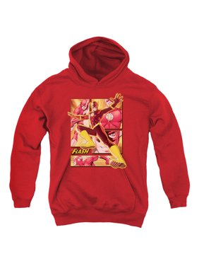 Justice League Flash Big Boys Youth Pullover Hoodie RED