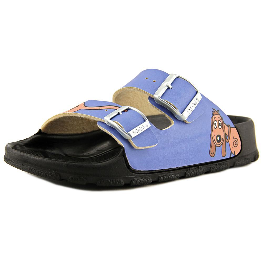 Birki's Haiti Women  Open Toe Synthetic Blue Slides Sandal