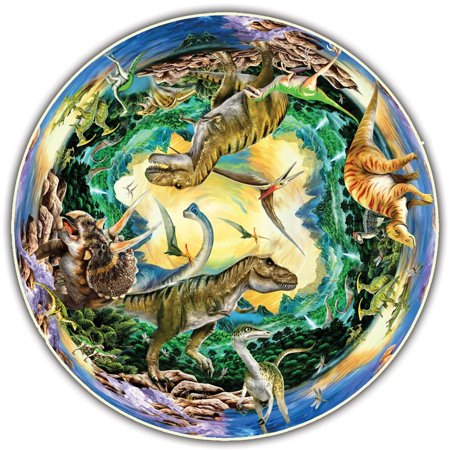 Round Table Puzzle - Prehistoric World (500 Piece), Ideal puzzles for groups of two or more: everyone gets the best seat around the puzzle. By A Broader