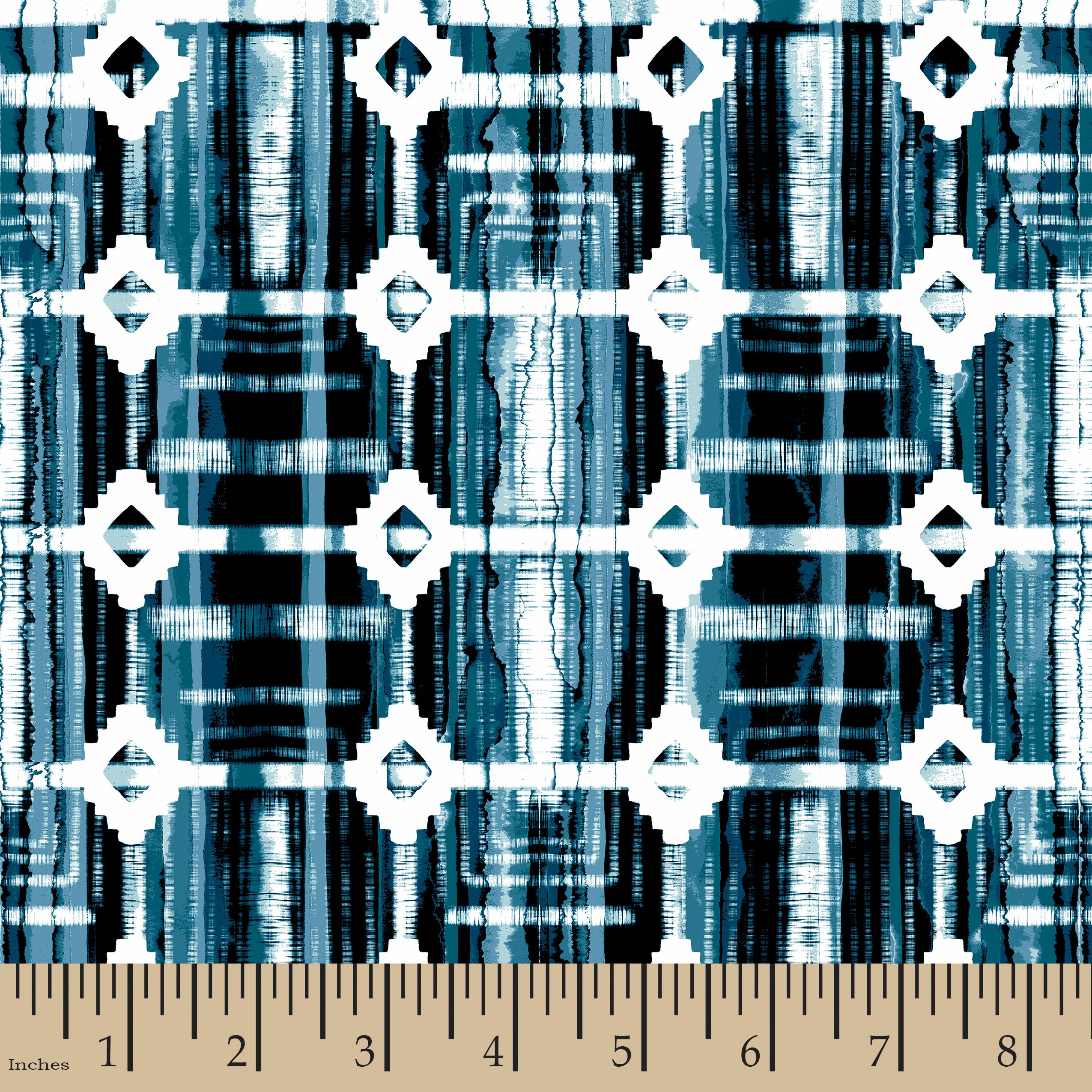 Shibori Plaid Fabric