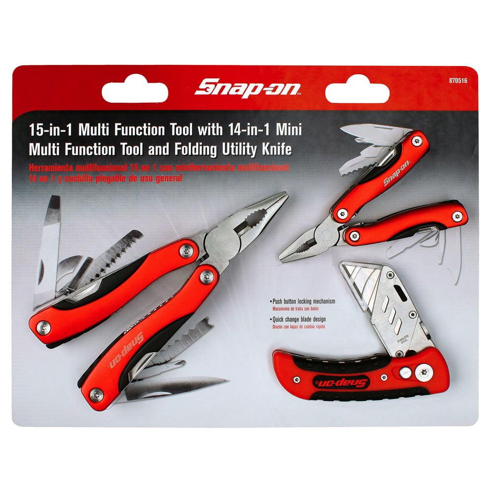 Snap-on 3 pcs Aluminum Multi-Tool & Folding Utility Knife Set ...