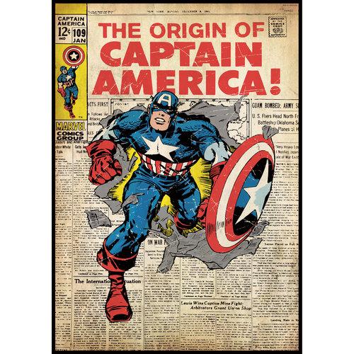 Captain America Comic Book Cover Wall Accent Sticker