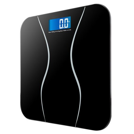Zimtown 180kg/396lb Digital Bathroom Scale Toughened Glass ...