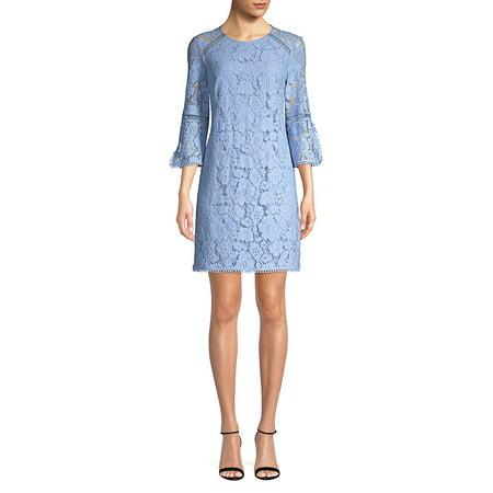 Floral Lace Shift Dress
