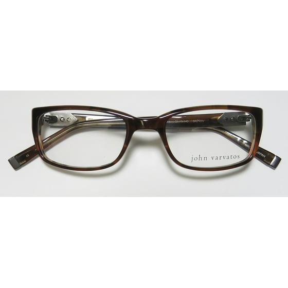 68f57057b37 New John Varvatos V344 Mens Designer Full-Rim Brown Premium Ultimate  Comfort Optical Frame Demo Lenses 51-19-140 Eyeglasses Eyewear - Walmart.com