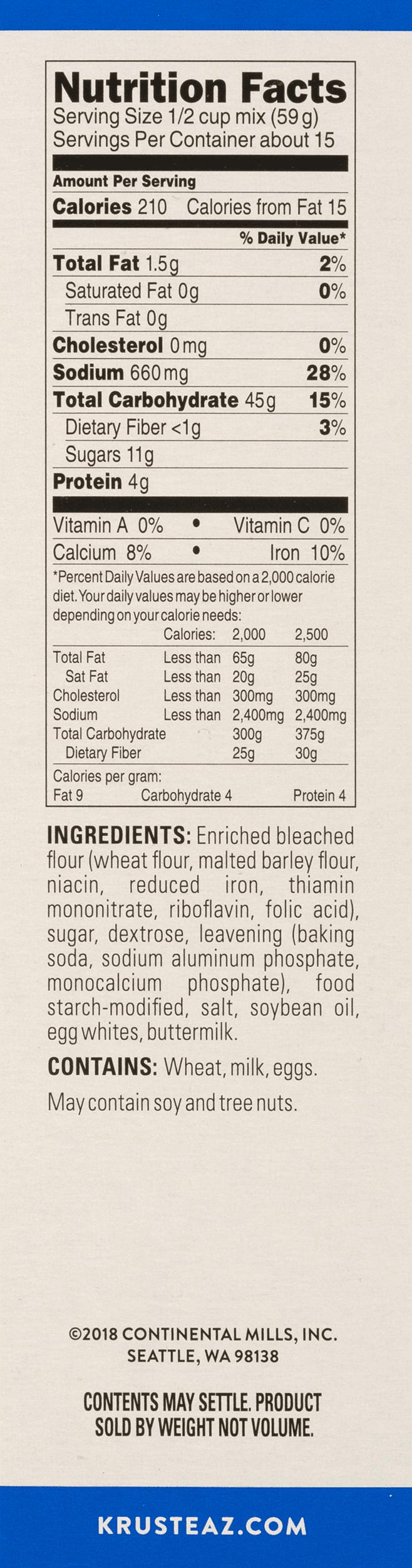 Krusteaz Complete Buttermilk Pancake Mix, 32 oz Box