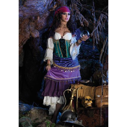 Adult Deluxe Tarot Card Gypsy Costume Leg Avenue DX83873, Small