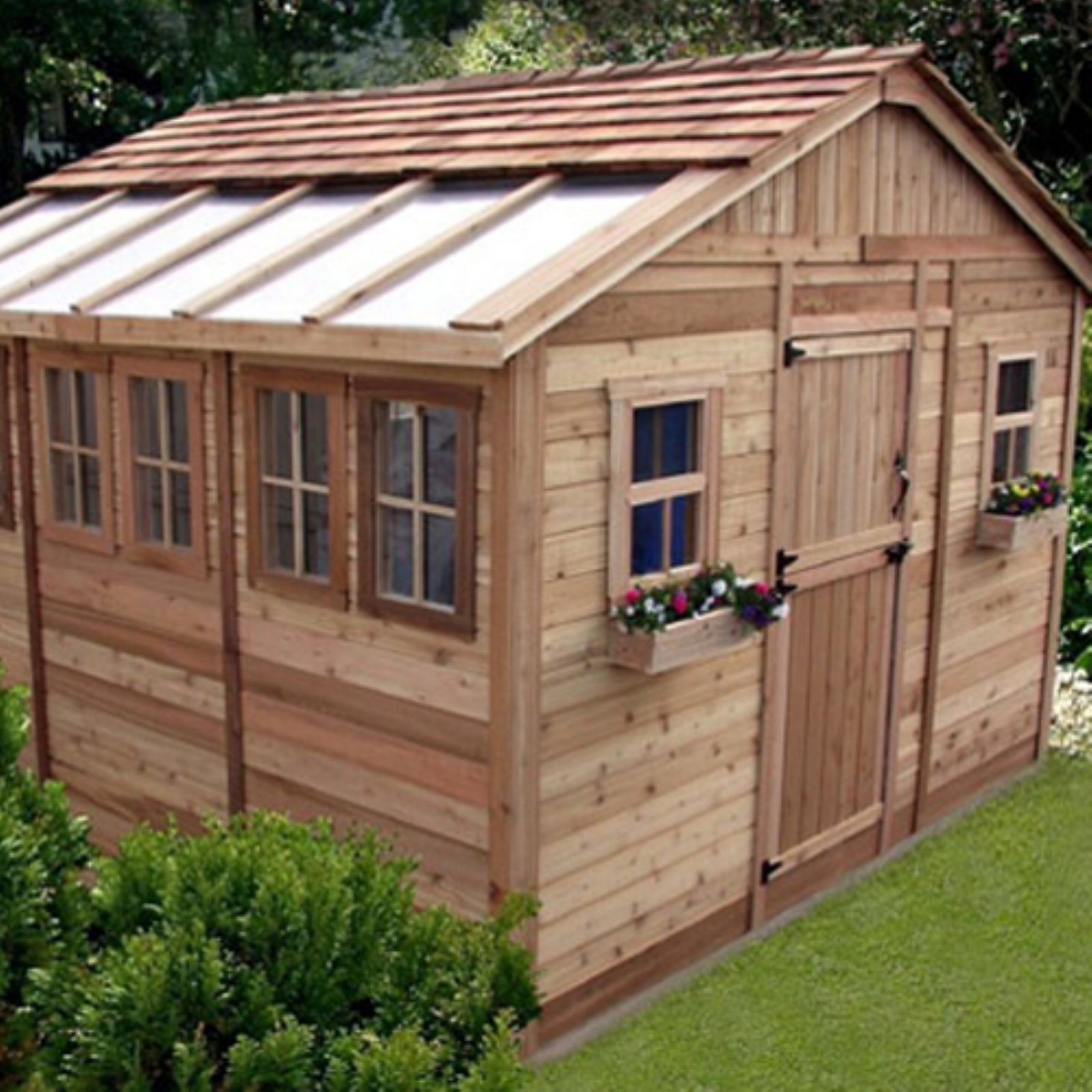 Outdoor Living Today SSGS1212 Sunshed 12 x 12 ft. Garden Shed