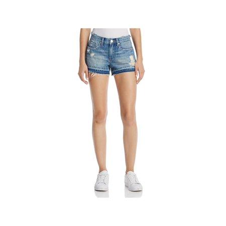 Blank NYC Womens Denim Distressed Cutoff Shorts Distressed Spandex Shorts