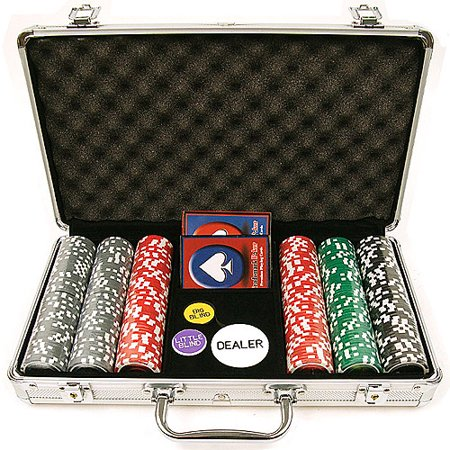 Trademark Poker 300 15 Gram Clay Welcome To Las Vegas Chip Set with Aluminum