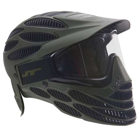 New - JT Spectra Flex-8 Full Coverage Paintball Paintball Mask / Goggles - (Paintball Gun Dust Olive)