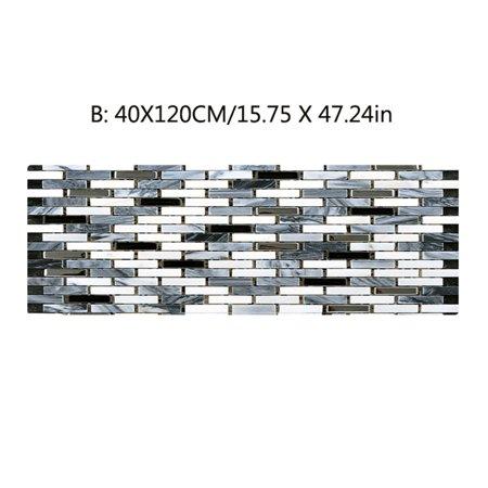 BEAD BEE Fake Tile Bricks Mat Bedroom Kitchen Floor Pad Non-Slip Bath Rug Mat Door Carpe
