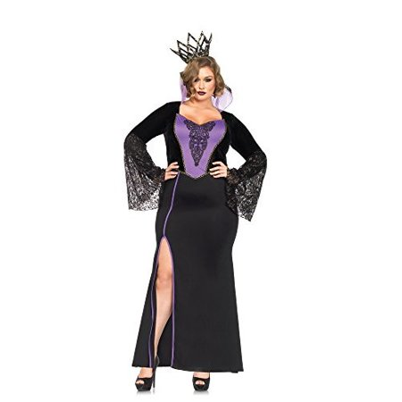 Leg Avenue Plus Size 2-Piece Evil Queen Adult Halloween - Halloween Evil Bunny Makeup