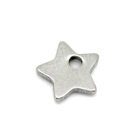 50 Wholesale Stainless Steel Star Charm Pendant Blank Stamping Tag Finding - Wholesale Charms