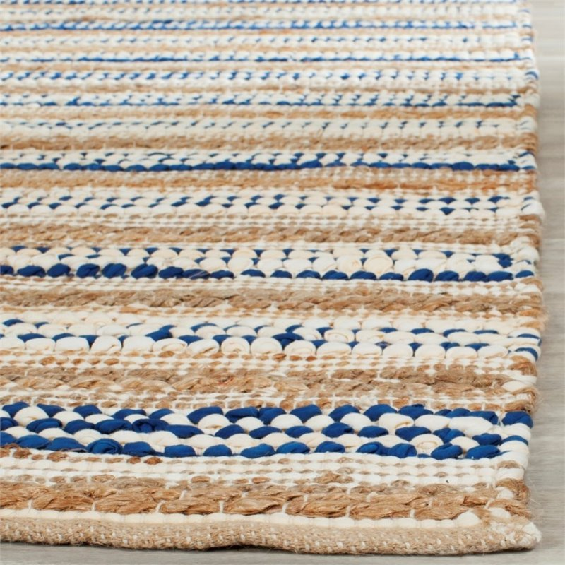 Safavieh Cape Cod 8' X 10' Hand Woven Rug in Natural and Blue - image 7 de 8